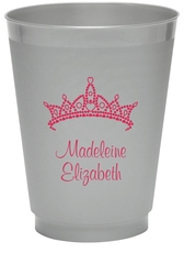 Diamond Crown Colored Shatterproof Cups