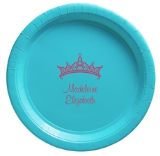 Diamond Crown Paper Plates