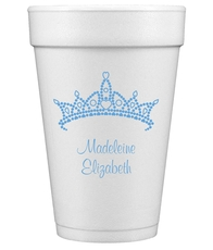 Diamond Crown Styrofoam Cups