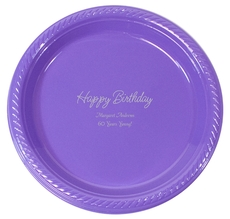 Perfect Happy Birthday Plastic Plates