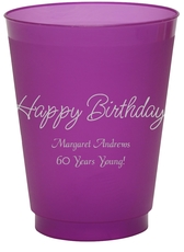 Perfect Happy Birthday Colored Shatterproof Cups