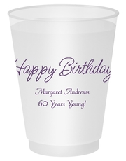 Perfect Happy Birthday Shatterproof Cups