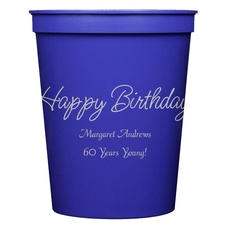 Perfect Happy Birthday Stadium Cups