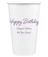 Perfect Happy Birthday Paper Coffee Cups