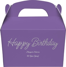 Perfect Happy Birthday Gable Favor Boxes