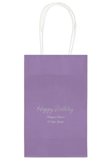 Perfect Happy Birthday Medium Twisted Handled Bags