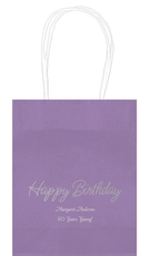 Perfect Happy Birthday Mini Twisted Handled Bags