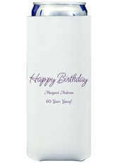 Perfect Happy Birthday Collapsible Slim Koozies