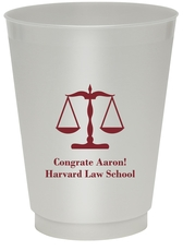 Scales of Justice Colored Shatterproof Cups