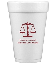 Scales of Justice Styrofoam Cups