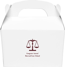 Scales of Justice Large Favor Boxes