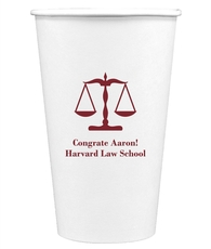 Scales of Justice Paper Coffee Cups