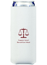 Scales of Justice Collapsible Slim Koozies