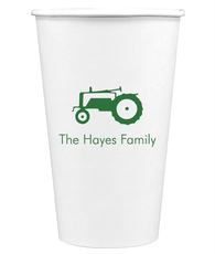 Tractor Paper Coffee Cups
