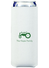 Tractor Collapsible Slim Koozies