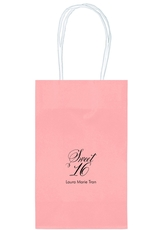 Elegant Sweet Sixteen Medium Twisted Handled Bags