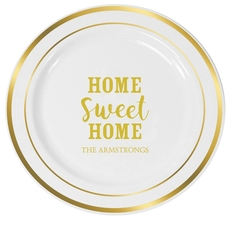 Home Sweet Home Premium Banded Plastic Plates