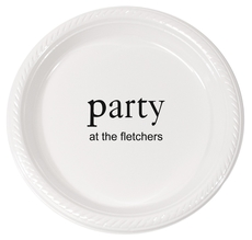 Big Word Party Plastic Plates