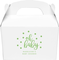 Confetti Dots Oh Baby Large Favor Boxes