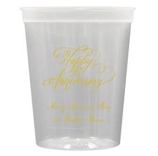 Elegant Happy Anniversary Stadium Cups