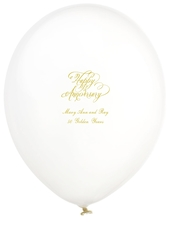 Elegant Happy Anniversary Latex Balloons