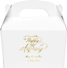 Elegant Happy Anniversary Large Favor Boxes