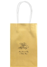 Elegant Happy Anniversary Medium Twisted Handled Bags