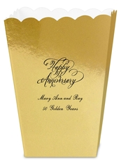 Elegant Happy Anniversary Mini Popcorn Boxes
