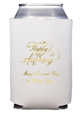 Elegant Happy Anniversary Collapsible Koozies