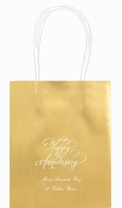Elegant Happy Anniversary Mini Twisted Handled Bags