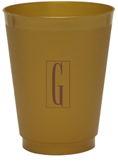 Contempo Monogram Colored Shatterproof Cups