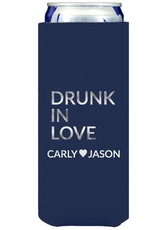 Drunk In Love Collapsible Slim Koozies