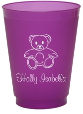 Little Teddy Bear Colored Shatterproof Cups