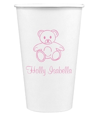 Little Teddy Bear Paper Coffee Cups