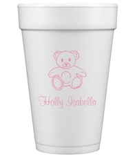 Little Teddy Bear Styrofoam Cups