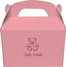 Little Teddy Bear Gable Favor Boxes