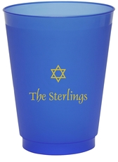 Little Star of David Colored Shatterproof Cups
