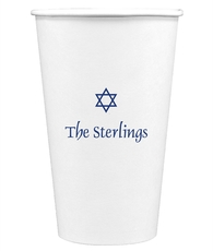 Little Star of David Paper Coffee Cups
