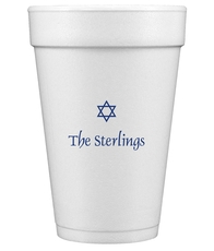 Little Star of David Styrofoam Cups