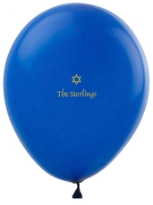 Little Star of David Latex Balloons