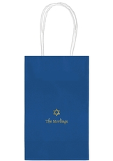Little Star of David Medium Twisted Handled Bags
