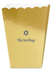 Little Star of David Mini Popcorn Boxes