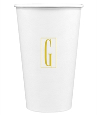 Contempo Monogram Paper Coffee Cups