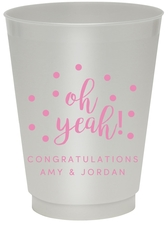 Confetti Dots Oh Yeah! Colored Shatterproof Cups