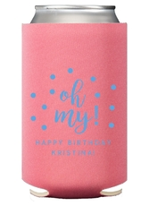 Confetti Dots Oh My Collapsible Koozies