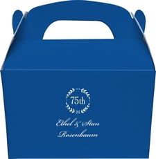 75th Wreath Large Favor Boxes