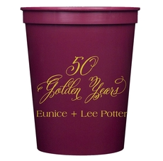 Elegant 50 Golden Years Stadium Cups