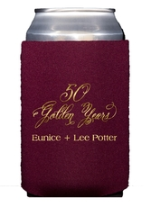 Elegant 50 Golden Years Collapsible Koozies