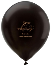 Elegant 70th Anniversary Latex Balloons