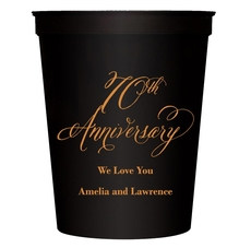 Elegant 70th Anniversary Stadium Cups